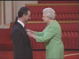 David Ramsden receives MBE from the Queen